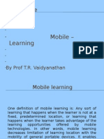 Mobile Learning, M-commerce