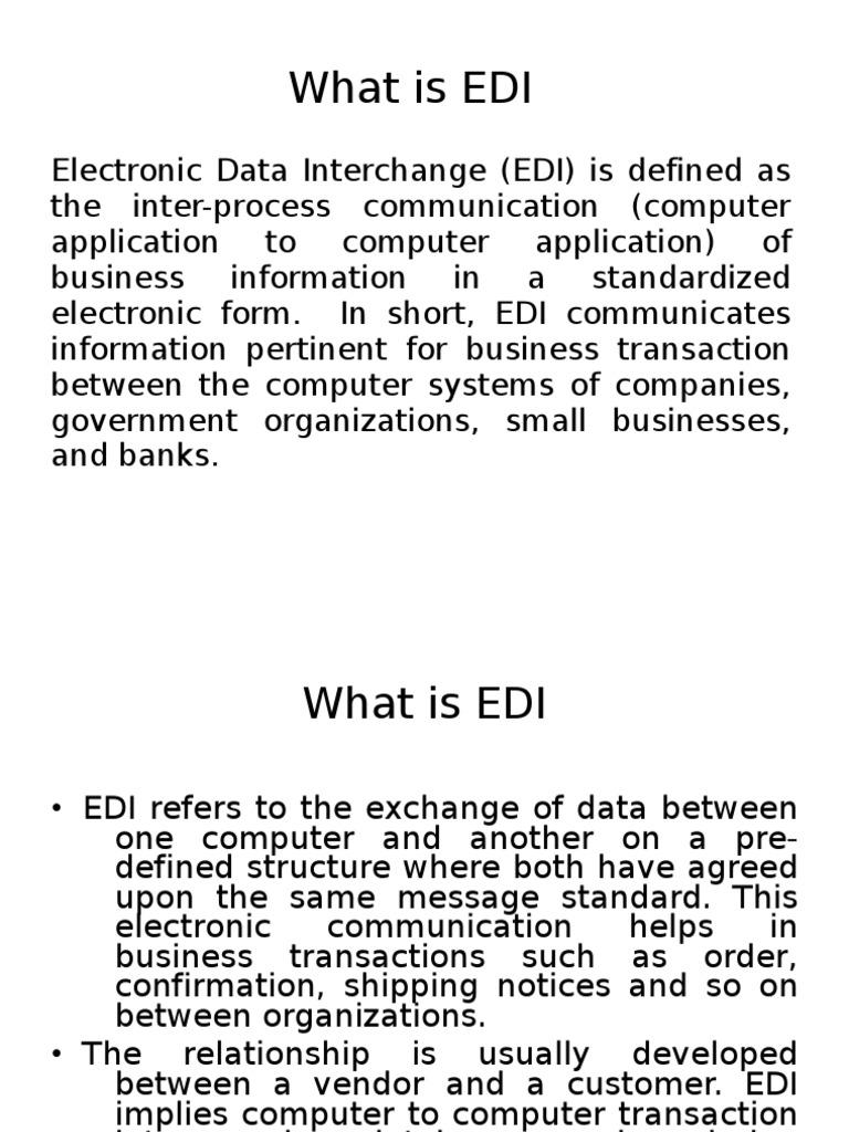 What is EDI | Electronic Data Interchange | Business