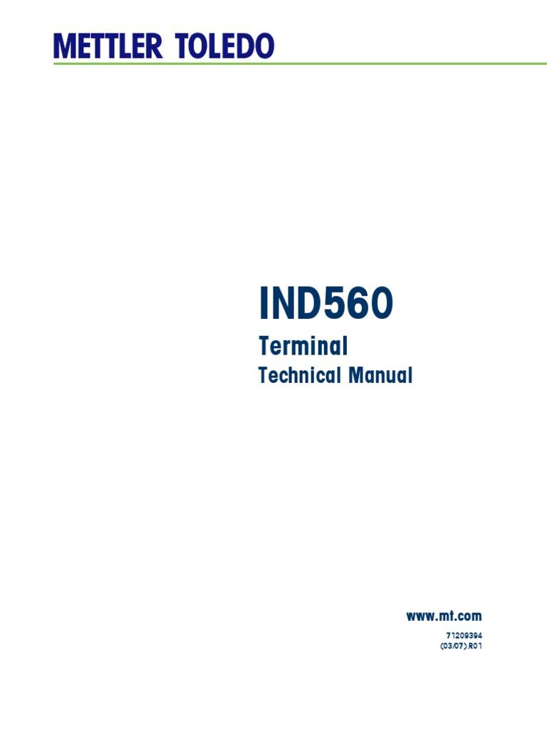 ind560 technical manual pdf programmable logic controller rh scribd com Mettler-Toledo Ind429 Mettler-Toledo IND560 Labeled
