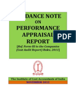 Guidance Note on Performance Appraisal Report