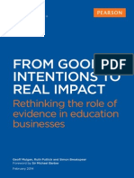 From Good Intentions to Real Impact