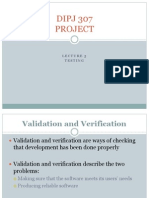 Lecture 5 Testing (Verification and Validation)