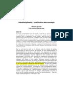 Payette Maurice Interdisciplinarité