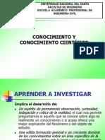 Cononcimiento y Conocimiento Científico.ppt