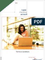 Rupee Checking Account