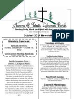 Aurora-Trinity Newsletter Oct14