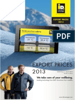 Export Pricelist 2013