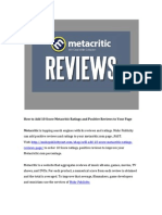How to Add 10 Score Metacritic Ratings and PositiveReviews to Your Page