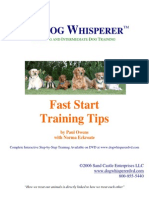 Fast Start Training Tips