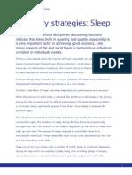 Recovery Strategies Sleep (1)