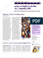 Newsletter for Teachers of English in the West Indies I.i Sept 2009