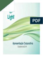 Apresenta??o Corporativa Light - Outubro 2014