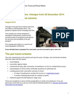 EU Pet Travel Scheme Dec 2014 Guidance