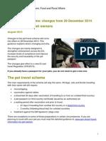 EU Pet Travel Scheme Dec 2014 Guidance