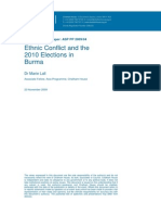 Ethnic Conflict and the 2010 Elections in Burma
