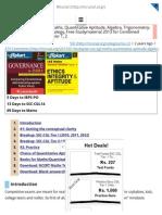 [Studyplan] SSC-CGL Maths, Quantitative Aptitude, Algebra, Trigonometry_ Approach, Booklist, Strategy, Free Studymaterial 2013 for Combined Graduate Level Exam Tier 1, 2 - Mrunal