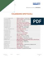Creberg Teatro Bergamo 2014 - 2015