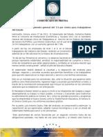 27-01-2012 El Gobernador Guillermo Padrés firmó convenio de prestaciones económicas y sociales 2012 con el secretario del SUTSPES. B011279