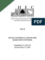 SCDHEC Title B - 61-64 rev. May 25, 2001