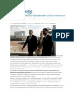 04-10-2014 Poblanerías.com - Alfonso Esparza y Moreno Valle refrendan su buena relación en favor de la BUAP.