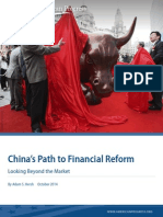 China's Path to Financial Reform