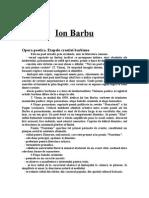 Ion Barbu (!-etape ale creatiei-!).doc