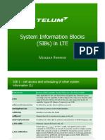 LTE SIB Detailed