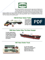 50 Years of Hess Toy Trucks
