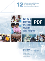 12th International Dialogue on Population and Sustainable Development