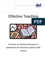 Effective Teaching Handout