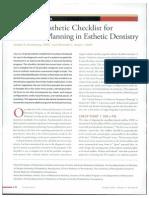 Checklist para la estética dental basado en referencias horizontales y verticales extra e intraorales.