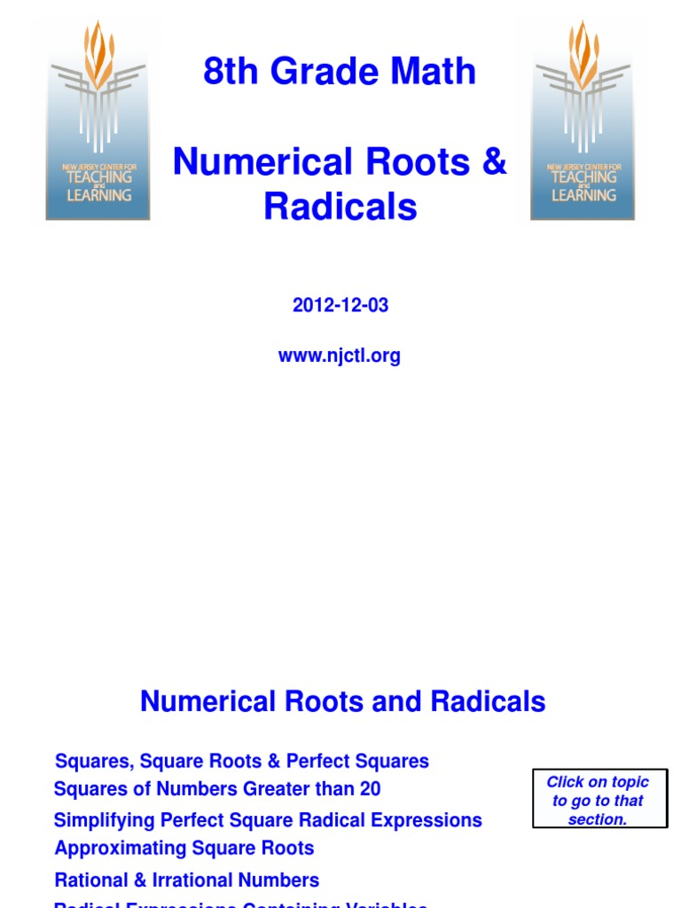 Workbooks perfect square worksheets 8th grade : 8th grade number system notes | Exponentiation | Square Root