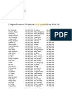 Week 36 Gold Promotions