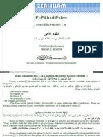 Fikhul Ekber - Imam Ebu Hanife (Shqip)