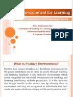 Creating Positive Environment