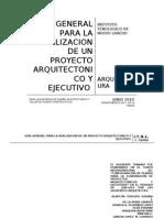 137468380 Guia General Para La Realizacion de Un Proyecto Arquitectonico y Ejecutivo