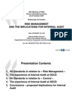 Risk Management and the Implication Foir IA - Mr Stokhof (OECD)