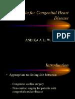 Anesthesia for Congenital Heart Disease