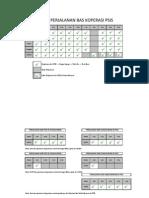 Jadual Perjalanan Bas Koperasi Sesi Jun 2014