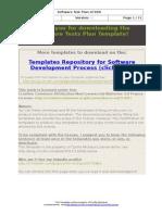 Software Test Plan Template