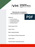 Estructura de Un Programa en Ensamblador