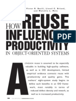 how reuse influences productivity in object oriented systems