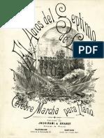 Partitura de la marcha Adios al Séptimo de Línea. Célebre marcha para piano..pdf