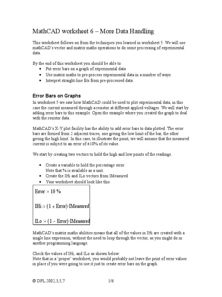 Mathcad Worksheet 6 | Logarithm | Physics & Mathematics