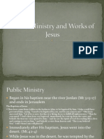 Public Ministry and Works of Jesus
