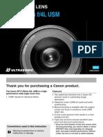 Canon EF 17-40mm f 4.0 L USM Lens