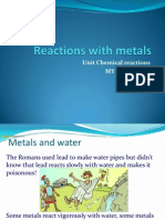 reactions with metals