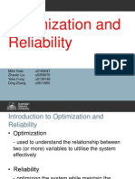 Optimization and Reliability Systems Engineering Analysis