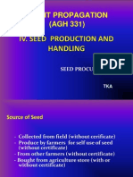 Bab 4. PLANT PROPAGATION 4-2014. Seed Production and Handiling