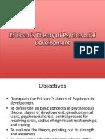 Erickson's Theory of Psychosocial Development